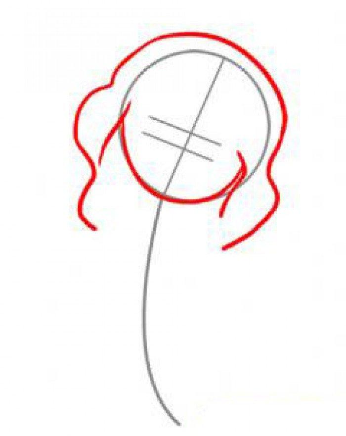 Как нарисовать ангела схема 1, шаг 2