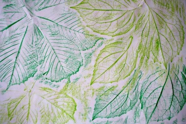 Рисование картин осенними листьями, фото 6