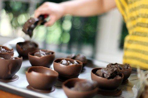 Шоколадні корзинки своїми руками - фото 4