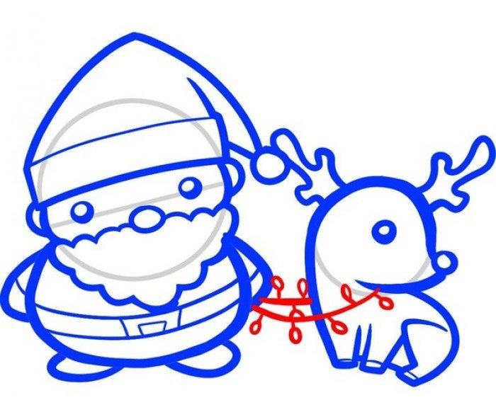 Як намалювати Санта Клауса поетапно, фото 8