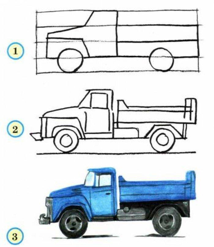 Як намалювати вантажівка