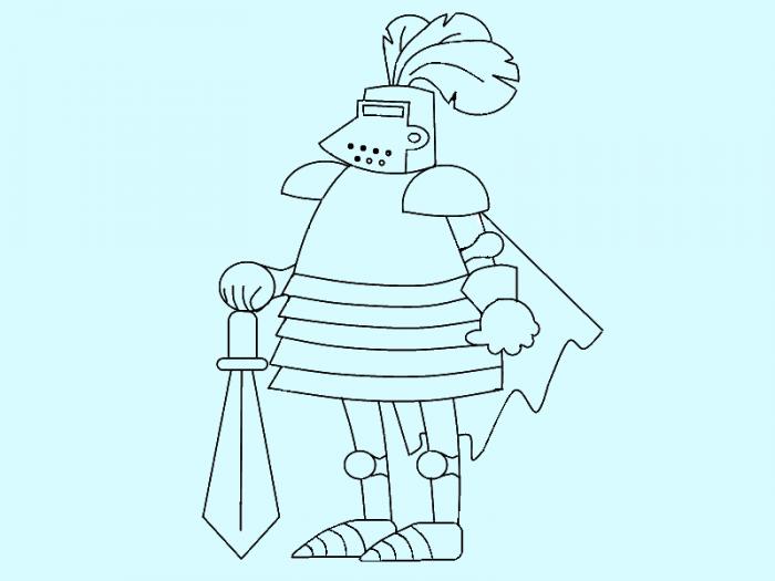Як намалювати лицаря поетапно, фото 12