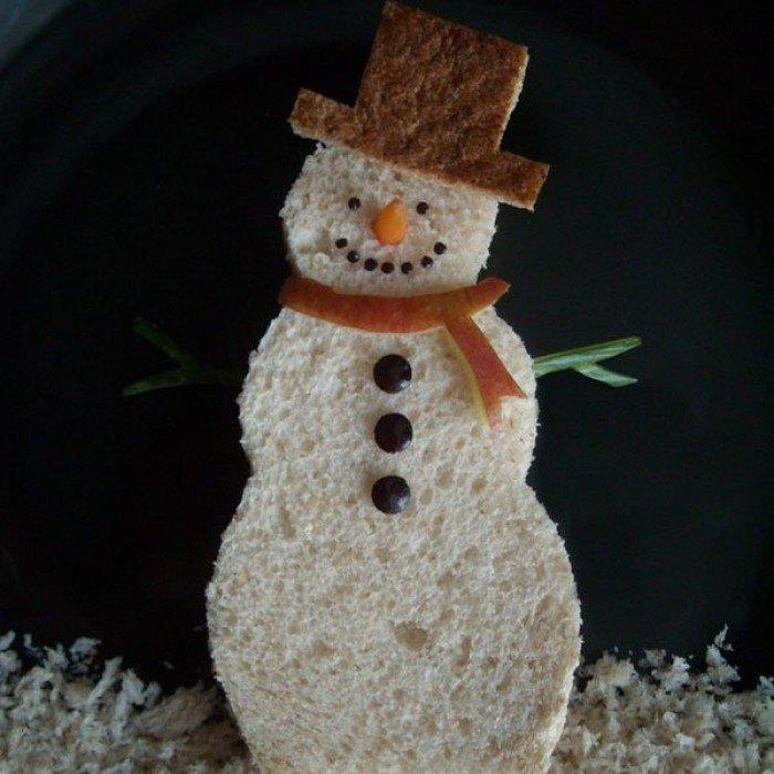Дитячі бутерброди на новий рік