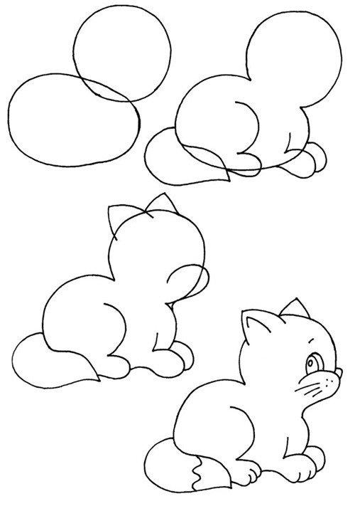 Как нарисовать котенка поэтапно, фото 9