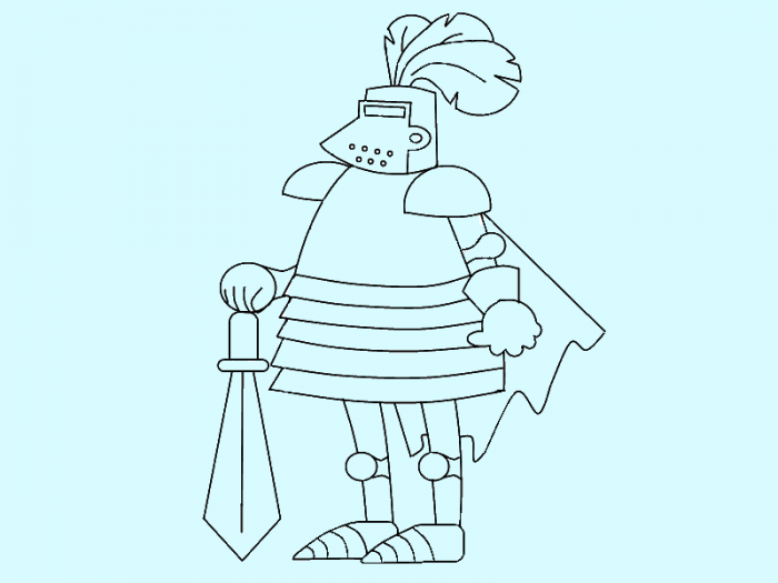 Как нарисовать рыцаря поэтапно, фото 12