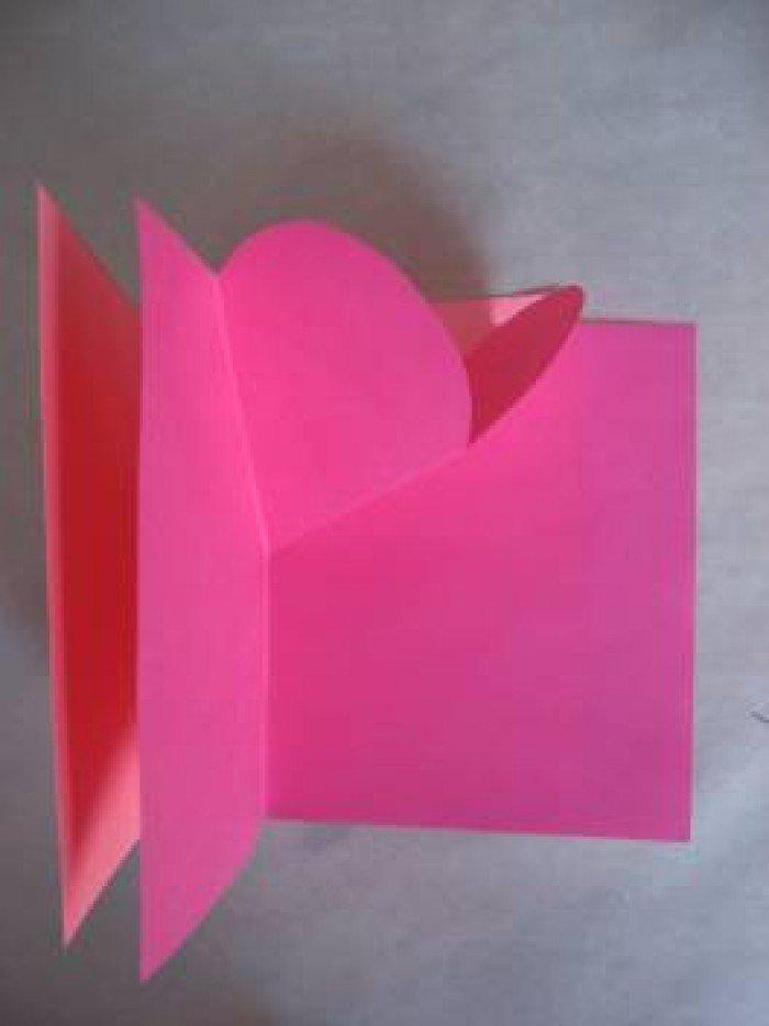 Листівка на День Святого Валентина з паперу, фото 6