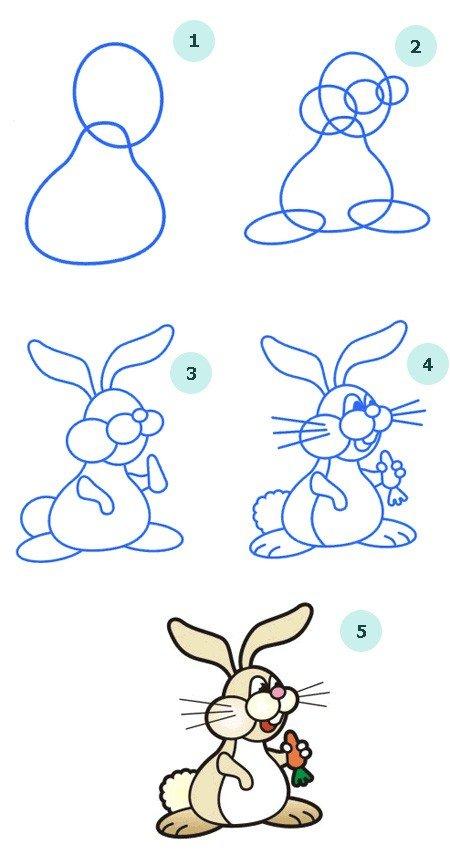 Як намалювати зайчика поетапно, фото 9