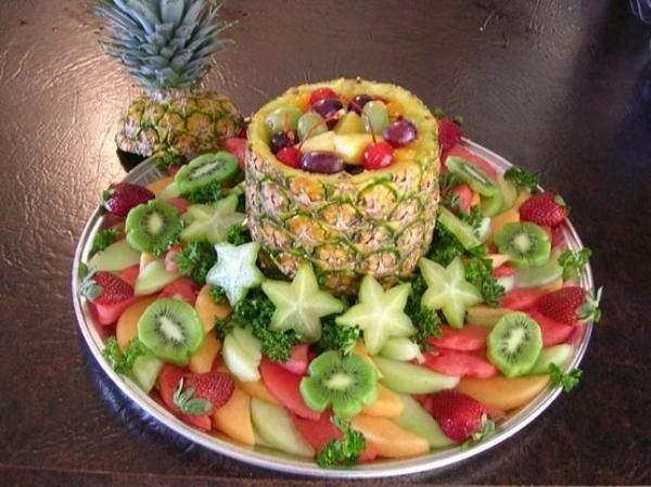 Как красиво подать фрукты к столу. Оформление фруктовой нарезки - фото 18