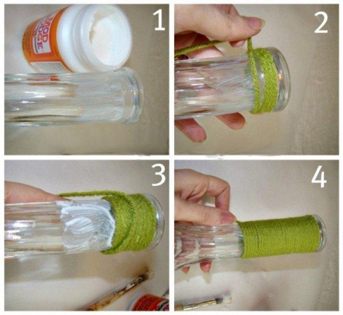 Ваза з пляшки своїми руками