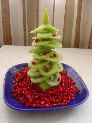Елочка на стол из фруктов - фото 4