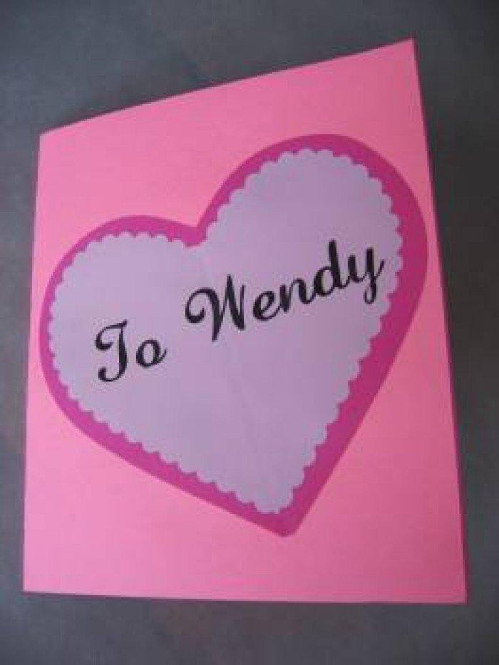 Листівка на День Святого Валентина з паперу, фото 7