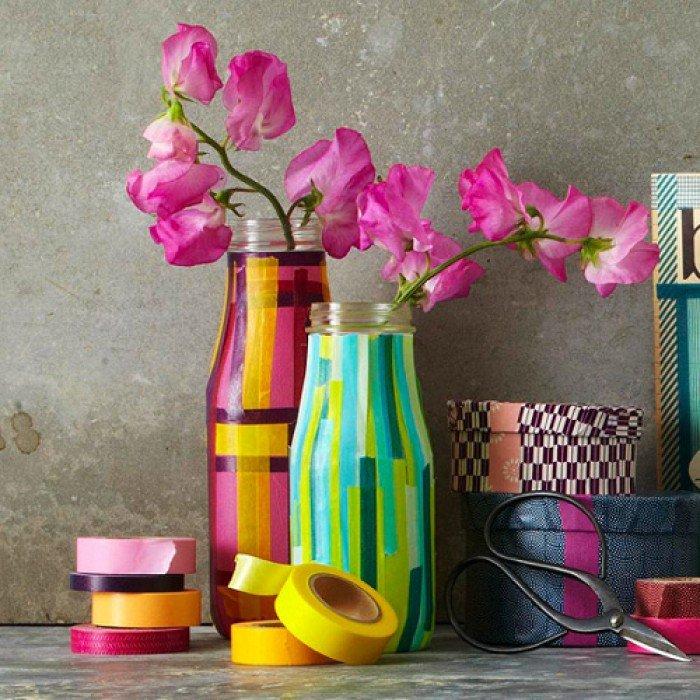 Как оформить вазу своими руками из подручных материалов 33