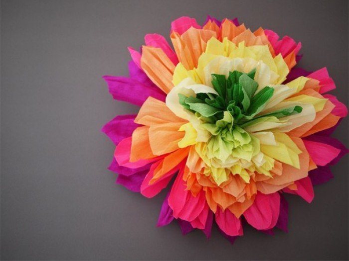 Квіти з гофрованого паперу