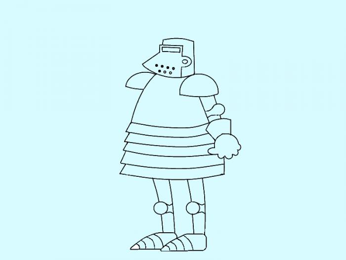 Как нарисовать рыцаря поэтапно, фото 9