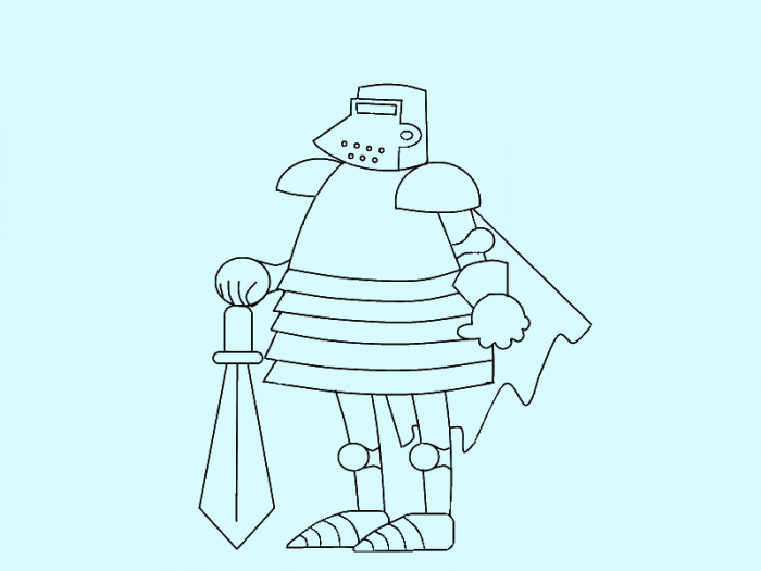 Як намалювати лицаря поетапно, фото 11