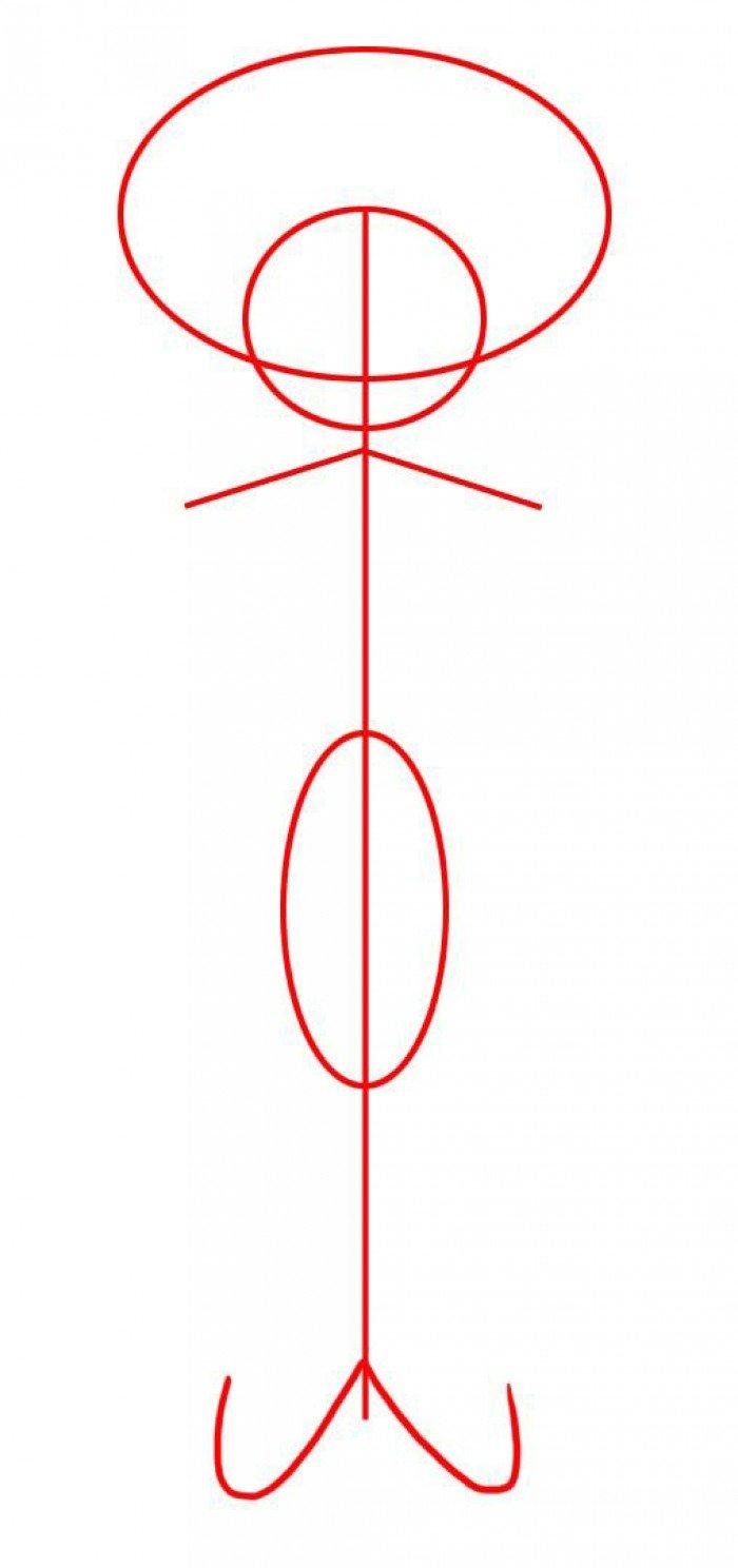 Как нарисовать Сквидварда поэтапно, шаг 2