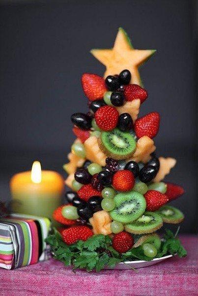 Елочка на стол из фруктов - фото 1