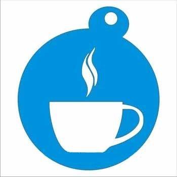 Трафарети для малюнків на каві, завантажити - чашка