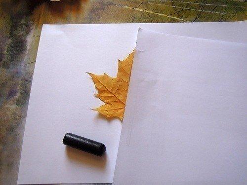 Рисование картин осенними листьями, фото 2