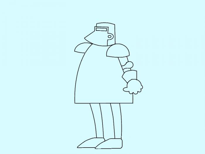 Як намалювати лицаря поетапно, фото 6