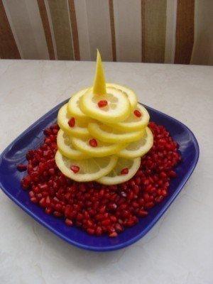 Елочка на стол из фруктов - фото 3