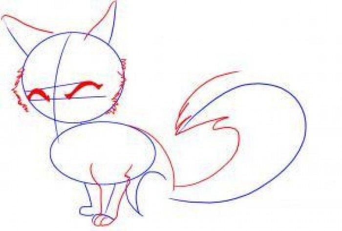 Як намалювати лисицю поетапно, фото 2