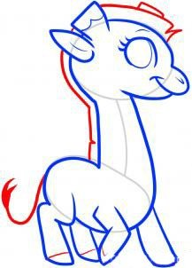 Как нарисовать жирафа поэтапно, фото 7
