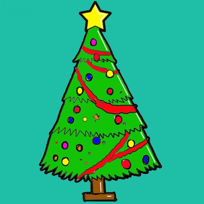 Как нарисовать елку, фото 3