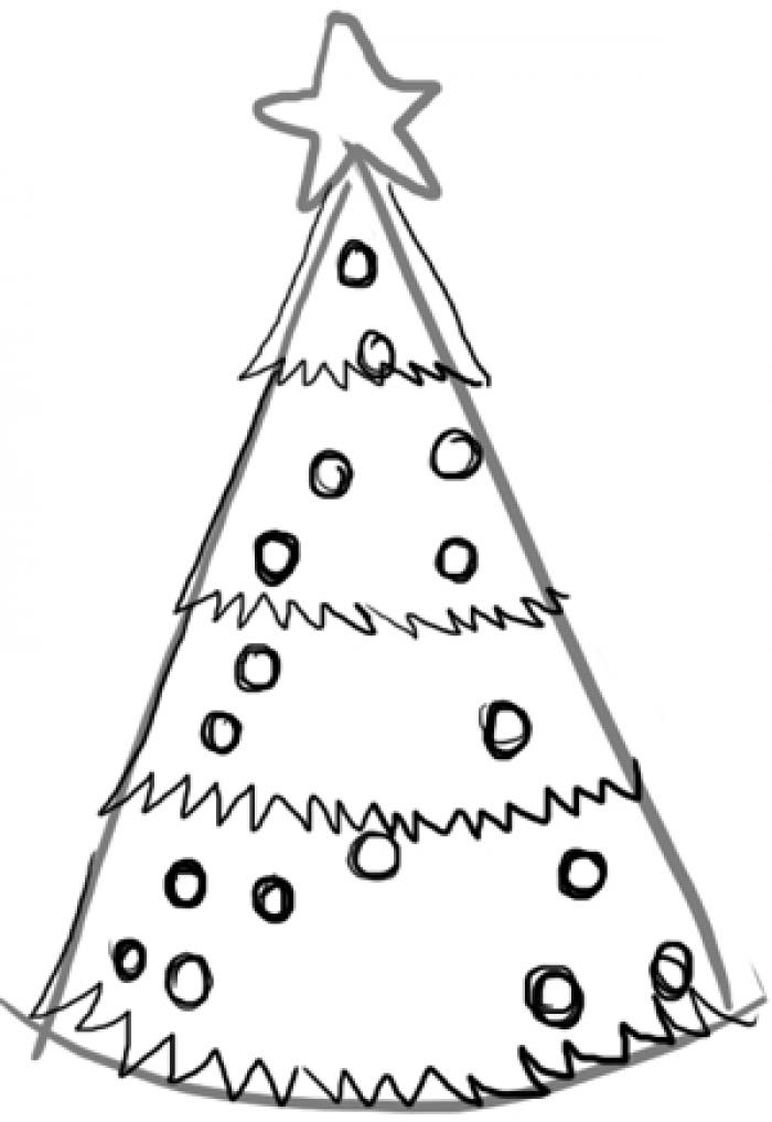Как нарисовать елку, фото 6