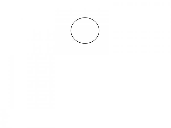 Как нарисовать смешную русалочку, схема 3, шаг 1