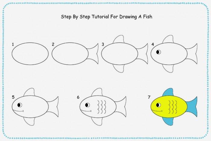 Как нарисовать рыбку. Схема 6
