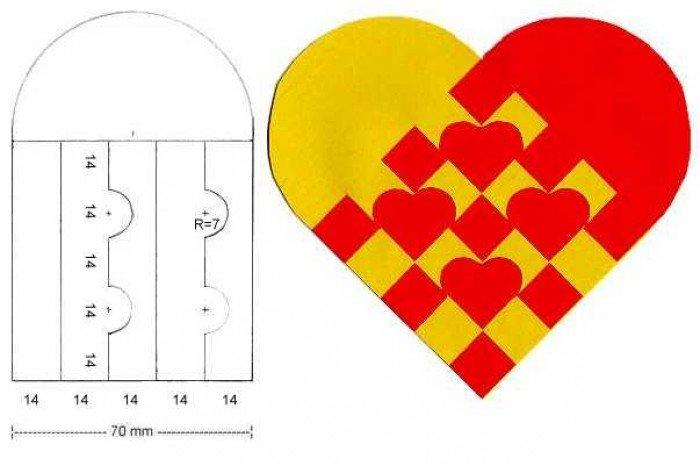 Как сделать красивую поделку из бумаги сердечко 35