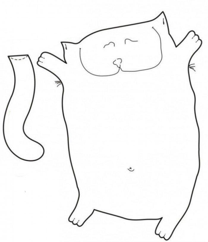 Викрійка для іграшки котик