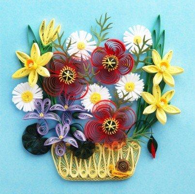 99b963fe6b029a4b7a33b8a2f99a28eb Цветы в технике квиллинг. Цветы из квиллинга