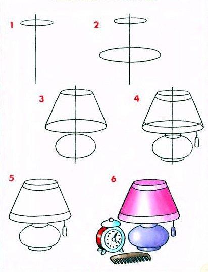Як намалювати світильник