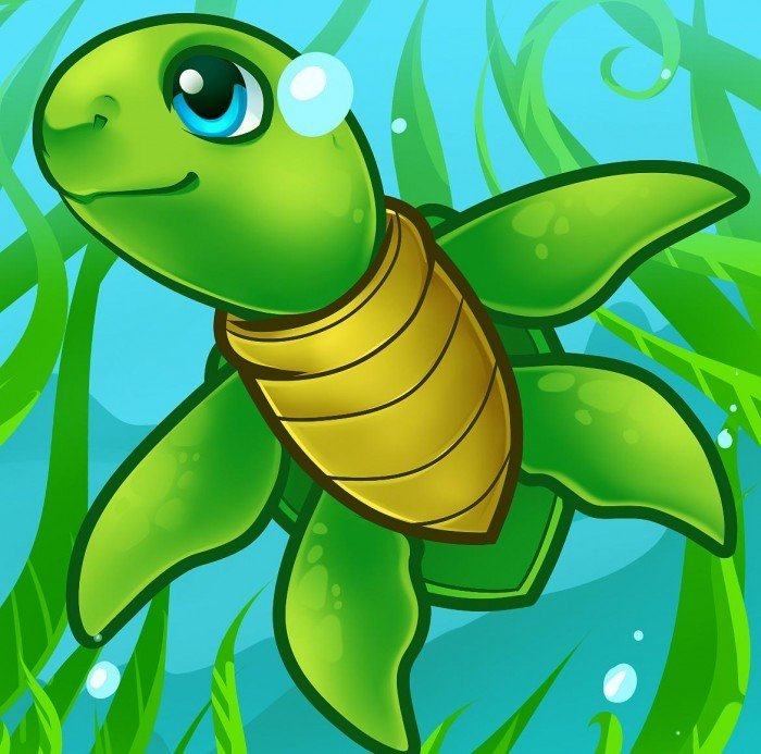 Нарисовать черепаху поэтапно - 947
