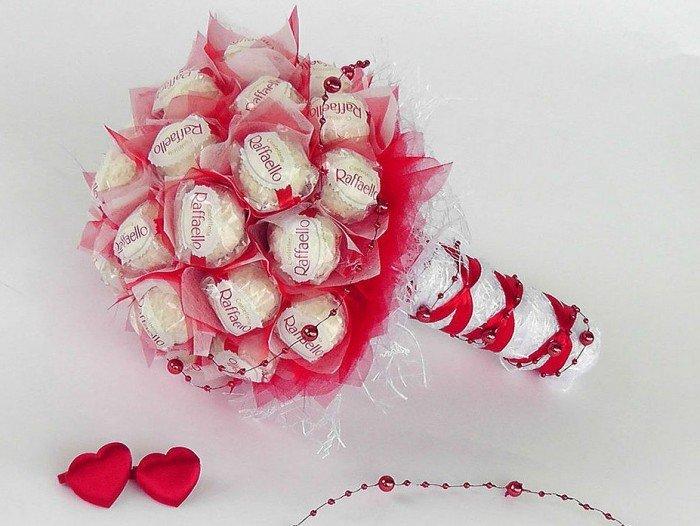 Свадебный букет с конфетами своими руками 86