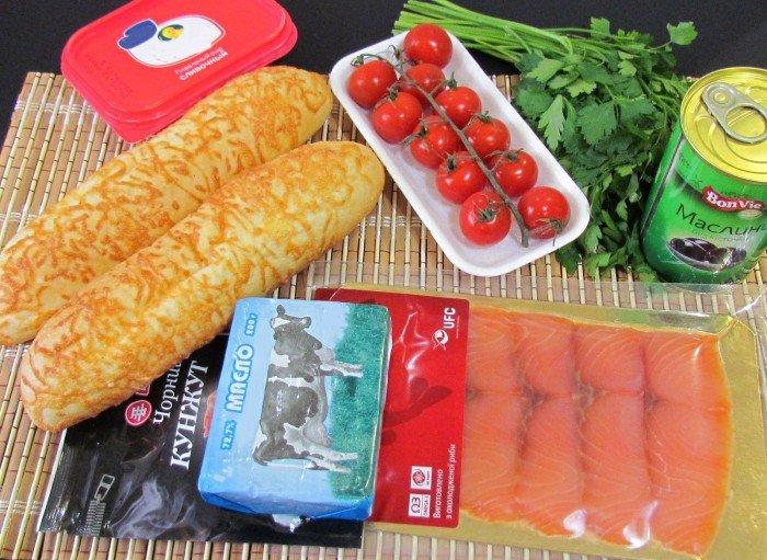 Бутерброди з червоною рибою – красиве оформлення бутербродів, фото 1