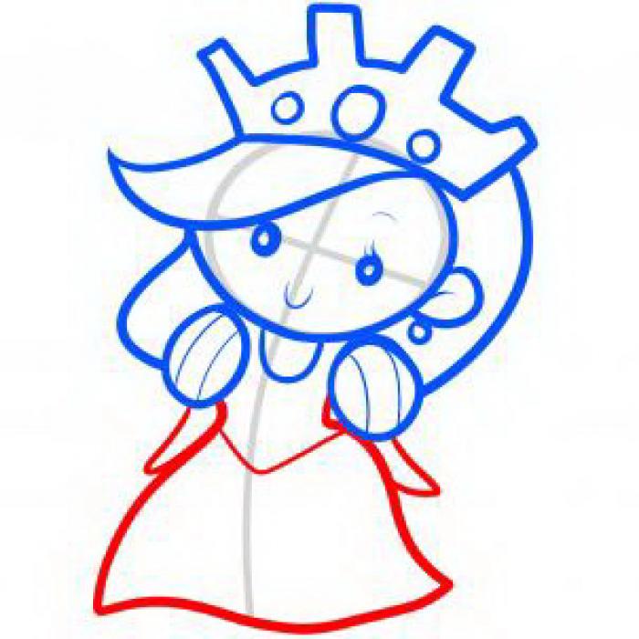 Как нарисовать принцессу, фото 15