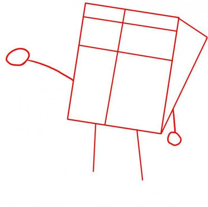 Как нарисовать Губку Боба поэтапно, шаг 1