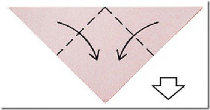 Валентинка з паперу своїми руками, спосіб 1