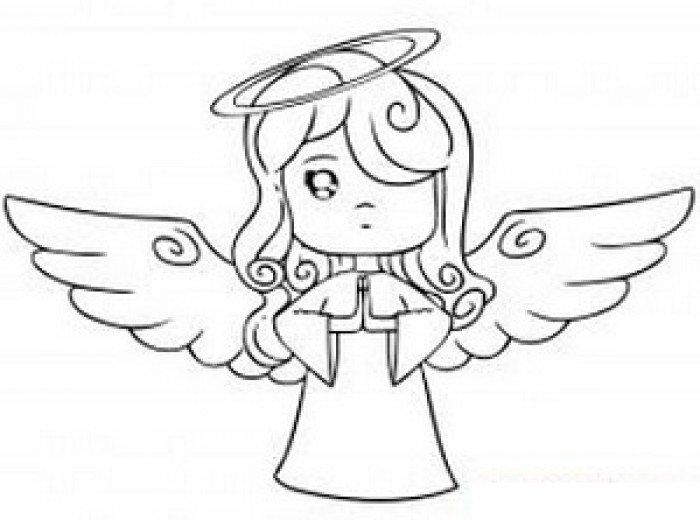 Как нарисовать ангела схема 2, шаг 6