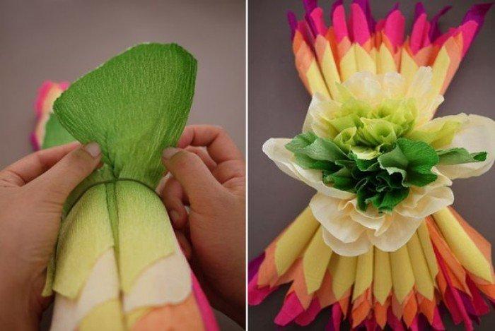 Цветы из бумаги для детей