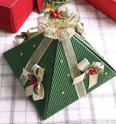 Новогодняя упаковка-елочка