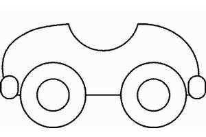 Как рисовать автомобили. Схема для самых маленьких.