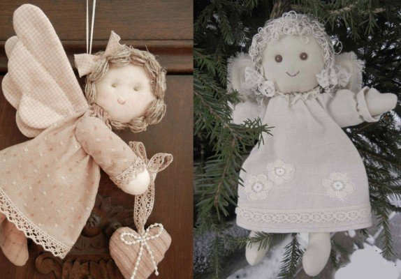 Рождественский ангел на елочку