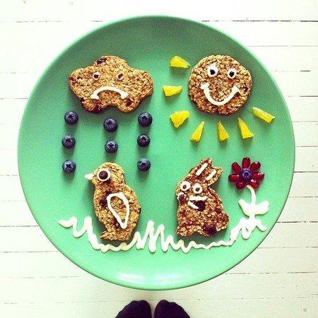 Креативные и полезные завтраки для детей - фото 19