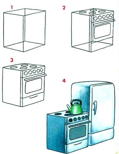 Как нарисовать плиту
