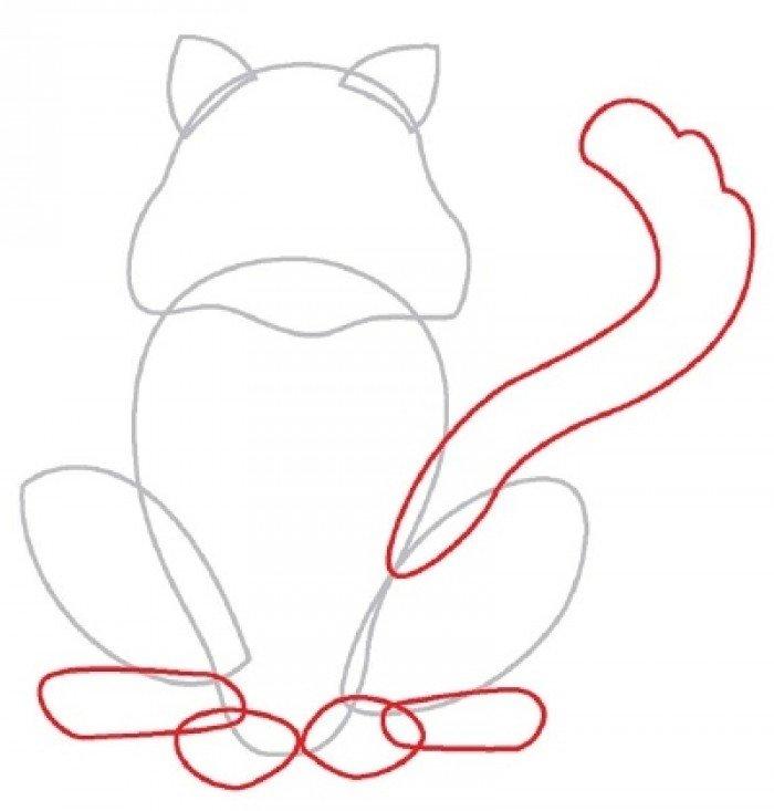 Как нарисовать котенка поэтапно, фото 4