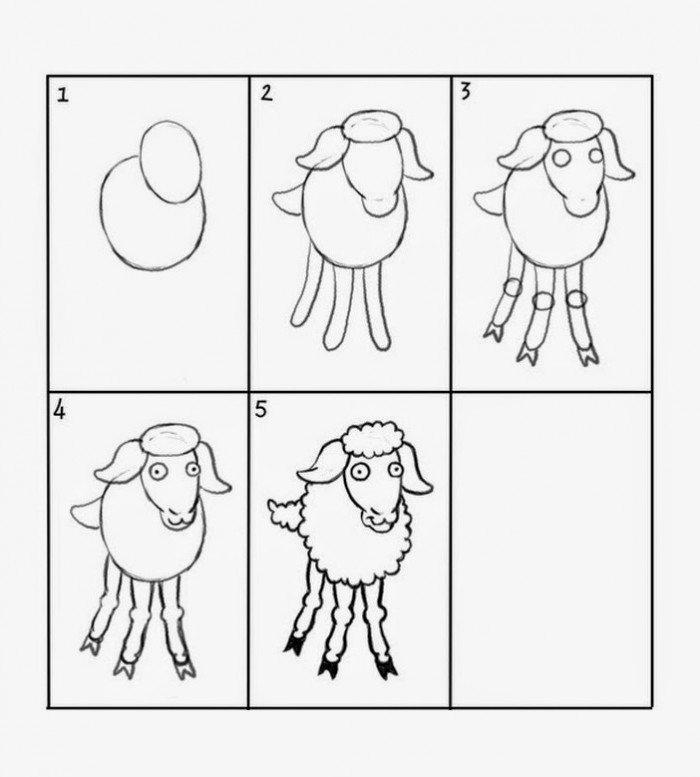 Как нарисовать барашка схема 3